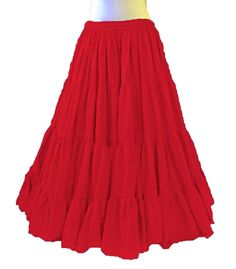 Intelligent Satin 6 Yard Tiered Gypsy Skirt Belly Dance Tribal Ruffle Costume Jupe Flamenco Women's Clothing Clothing, Shoes & Accessories