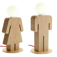 Cute solid wood kids table lamp.