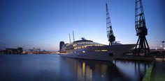 The Sunborn Yacht at twilight