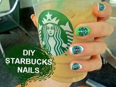 starbucks diy | STARBUCKS NAILS- an easy DIY nail tutorial - YouTube