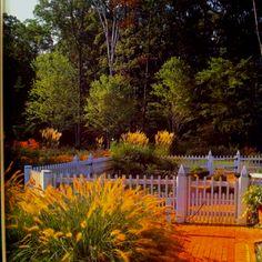 Pickett fence patio. Love it!