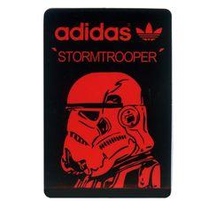 #1647 Stormtrooper Star Wars adidas Originals, Height 7 cm decal sticker…