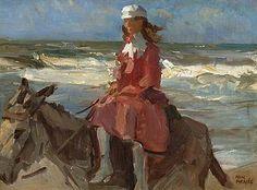 Isaac Israëls - Ezeltje rijden langs het strand