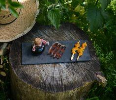 Menu de printemps ... Le piment d'espelette à l'honneur au brunch bleu canard, magret sechés et poivrons marinés