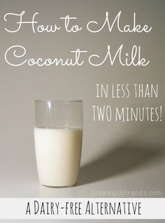 """These days, it is no surprise to run into someone who is experiencing unpleasant symptoms of dairy-induced allergies. Many are looking for alternatives, and today I'm letting you in on a little secret: how to make coconut milk. This coconut milk is easy, nourishing, and delicious!"""