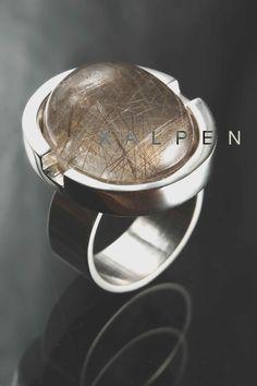 anillo plata cuarzo rutilos by Taller Xalpen ph Pedro Sebastian Guerrero: