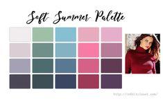 Soft Summer Makeup, Summer Skin, Soft Summer Color Palette, Summer Colors, Deep Red Lipsticks, Seasonal Color Analysis, Color Me Beautiful, Deep Winter, Light Spring