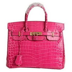 Wholesale Réplique Hermes Birkin 30CM Sacs fourre-tout Peach Croco Cuir Or  - €288.32   réplique sac a main, sac a main pas cher, sac de marque    imitation ... 38c9438be04