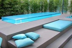 42 Beautiful Indoor and Outdoor Swimming Pool Designs Backyard Pool Designs, Small Backyard Pools, Swimming Pools Backyard, Swimming Pool Designs, Outdoor Pool, Raised Pools, Piscina Hotel, Moderne Pools, Small Pool Design