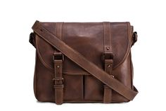 Handmade Vegetable Tanned Leather Men's Messenger Bag, Shoulder Bag, Satchel Bag 9042 ********************** We use selected thick genuine cow...
