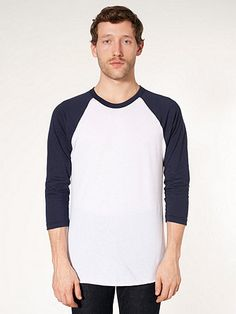 853933195782f Poly-Cotton 3 4 Sleeve Raglan Shirt