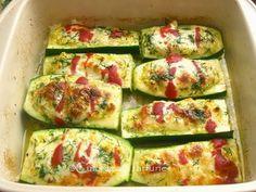» Zucchini umpluti cu crema de branzaCulorile din Farfurie