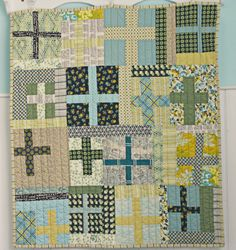 Blue Elephant Stitches: Shelburne Cross Quilt