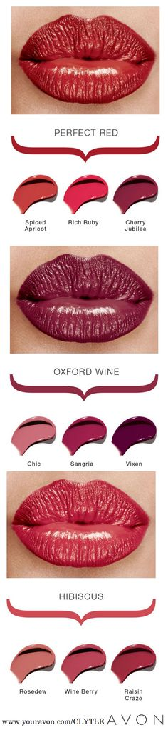 Get the perfect lip! Did you know that Avon has the largest color palette? Get you favorite color now!
