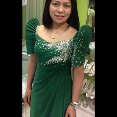 edward teng @edward_teng | Websta (Webstagram) Modern Filipiniana Gown, Filipiniana Wedding, Elegant Gown, Elegant Dresses, Formal Dresses, Petite Clothes, Petite Outfits, Barong Tagalog, Filipino Fashion