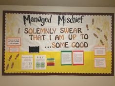 Harry Potter alcohol awareness RA bulletin board