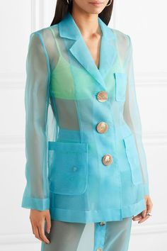 Find and compare Sophie organza blazer across the world's largest fashion stores! Look Fashion, High Fashion, Womens Fashion, Fashion Design, Blazer Fashion, Fashion Outfits, Fashion Trends, Looks Teen, Casual Outfits