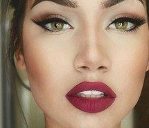 Inspiring image beautiful, cat eye, contour, eyebrows, girl, makeup, red lips, contour and highlight #3476768 by loren@ - Resolution 720x710px - Find the image to your taste