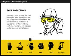 Articulate Rapid E-Learning Blog - safety training course example - Free eLearning graphics