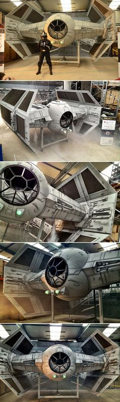It took an army of hobbyists two years to complete, but the 1:2 scale Tie Fighter recently unveiled in Eichenzell, Germany, is a true DIY masterpiece. 20 Star Wars fans of different professions, from financial brokers to policemen and architects, put thei