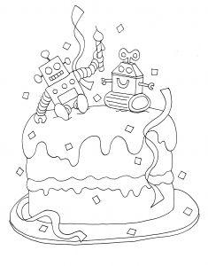 Les 72 meilleures images de anniversaires en 2019 coloring pages birthdays et colouring pages - Dessin pour anniversaire adulte ...