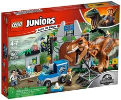Buy LEGO Juniors 10758 Jurassic World T-Rex Breakout from our Construction Toys range at John Lewis & Partners. Jurassic World T Rex, Lego Jurassic World Dinosaurs, Lego Jurassic Park, Baby Dinosaurs, Dinosaur Toys, Dinosaur Party, Legos, Lego Junior Sets, Jurrassic Park