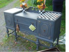 Another beautiful piece painted by The Purple Painted Lady in Chalk Paint® by Annie Sloan!  Great details.