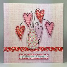 handmade cards with fabric Fabric Cards, Fabric Postcards, Embroidery Cards, Free Motion Embroidery, Freehand Machine Embroidery, Free Machine Embroidery, Sewing Cards, Craftwork Cards, Handmade Birthday Cards