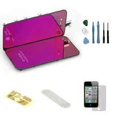 Iphone 4 GSM (At&t) Complete Color Change Kit (Mirror Purple) #http://www.pinterest.com/ordercases/