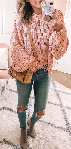 Trendy Winter Outfits To Wear Now Cute Winter Outfits, Casual Outfits, Cute Outfits, Fashion Outfits, Girl Outfits, Outfits Juvenil, Grey Sweater, Autumn Winter Fashion, Fall Winter