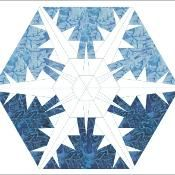 Snowflake #3 quilt block - via @Craftsy