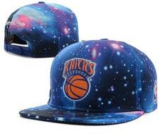 Casquette NBA New York Knicks Galaxy Snapback Bleu : Casquette Pas Cher