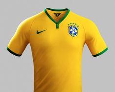 312a9beceaa08 NIKE football unveils 2014 brazilian national team kit. Camisa Seleção ...