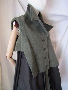 WORTHWHILE  deconstructed felt vest