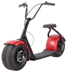 Electric Lifestyle Fat Tire Scooter Hub Motor E-Bike Bicycle (Red) -- Learn more by visiting the image link. Cheap Electric Scooters, Best Electric Scooter, Electric Bicycle, Motorized Bicycle, E Scooter, Bike Seat, Bike Accessories, Cool Bikes, Fat