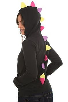 Hoodie from Hot Topic - great inspiration on how to make a plain hoodie fun!>>> I need this to match my boy's!