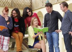 Students in language course in Malta