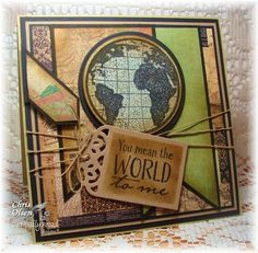 Stamps - Our Daily Bread Designs The Earth, ODBD Custom Circle Ornaments Die, ODBD Custom Recipe Card and Tags Die
