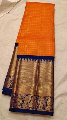 New south Silk Saree Kanjivaram Sarees Silk, Indian Silk Sarees, Pure Silk Sarees, Cotton Saree, Cotton Silk, Pattu Saree Blouse Designs, Blouse Designs Silk, Salwar Designs, Sari Blouse