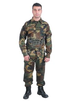 Camouflage Jacket Camouflage uniform(Shirt-Pant) Rıpstop/Gabardin Fabric Types Cotton/poleyster Mixtures; 100% Cotton 65/35 Cotton/Polyester - 60/40 Cotton/Polyester 50/50 Cotton/Polyester - 85/15 Cotton/Polyester 220 - 300 gr/m2 Antibacterial - Nano All Nation Camo Designs Production under National Specs