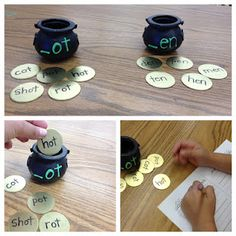 Pot of Gold Center, with word families to sort and write