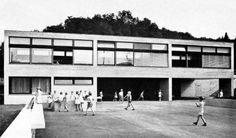 Schulhaus Talholz Bottmingen, Basel, Switzerland; 1958-60  Max Rasser, Tibère Vadi