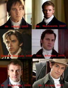Austen heros.....yup I knew these men before they were on shows like Downton Abbey, Walking Dead, Elementary....u get my drift