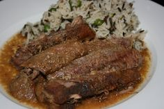 A Year of Slow Cooking: A-1 and Dijon Steak CrockPot Recipe