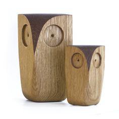 Hiboux en bois massif par Jacob Pugh