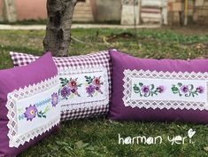 Sewing Pillows, Diy Pillows, Decorative Pillows, Throw Pillows, Easy Crafts, Diy And Crafts, Easy Diy, Hand Applique, Hand Embroidery