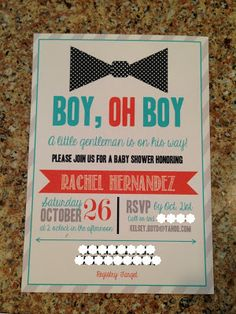 A bow tie themed baby boy shower!!! So cute if we have a little man on the way :)