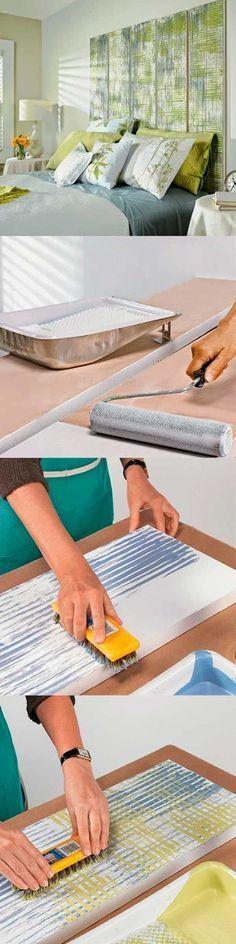 Cabeceira com tabuas de madeira e pátina fácil de fazer