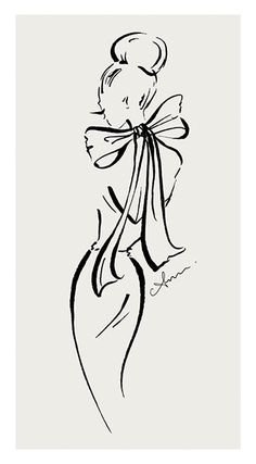 Fashion Sketches Dresses Simple 54 Ideas For 2019 Fashion Illustration Sketches, Fashion Design Sketches, Vintage Fashion Sketches, Megan Hess Illustration, Illustrations, Line Drawing, Drawing Sketches, Art Drawings, Line Art