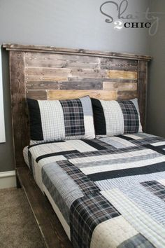 DIY-Pallet-Headboard - using different paint/stains this would be a great addition.